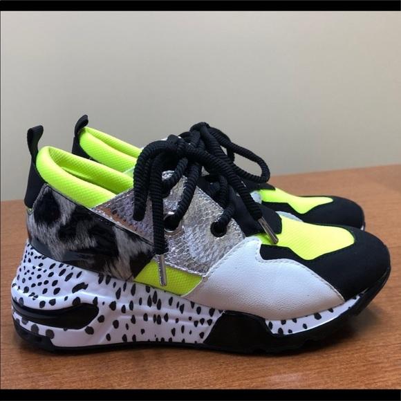 Steve Madden Shoes | Cliff Sneaker Neon